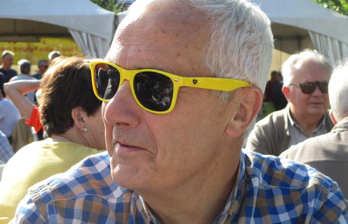 gele zonnebril