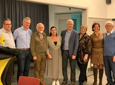 Jan Peumans, gastspreker met de burgemeester en mandatarissen