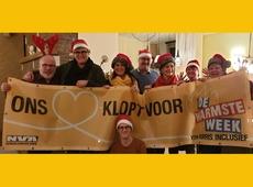 Een warm kerstfeest voor vzw Morris Inclusief en de warmste week